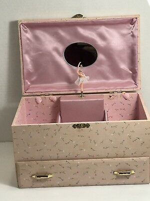 Vintage Jewelry Music Box W/ Ballerina