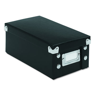 Snap 'N Store Collapsible Index Card File Box 3 x 5 Cards, Black - Free Shipping