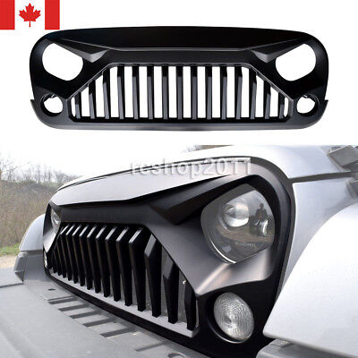 Upgrade Angry Bird Front Matte Grill Grille For Jeep Wrangler 07-16 JK Unlimited