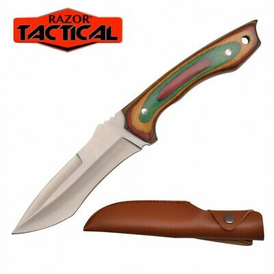 "9"" TACTICAL BOWIE SURVIVAL HUNTING KNIFE MILITARY DAGGER Fixed Blade w/ SHEATH"