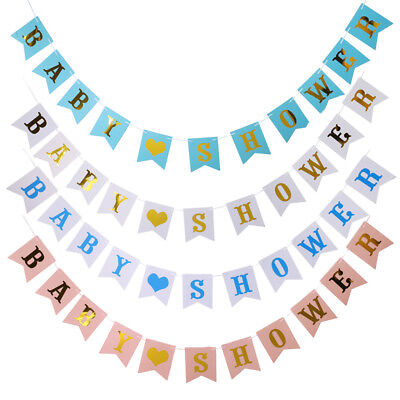 Christening Love Baby Shower Party Paper Banner Party Supply Unisex Baby Garland