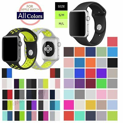 Silicone Wrist Bracelet Sport Band Wristwatch Strap for Apple Watch 42mm 38mm
