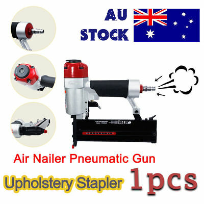 Air Stapler Air Nailer HEAVY DUTY STAPLE GUN TACKER UPHOLSTERY STAPLER