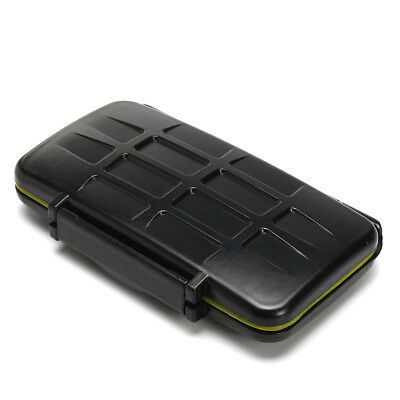 Black Water-Resistant Holder Storage Memory Card Case & 12 Micro SD Card