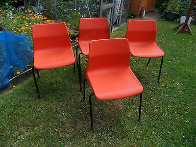 Vintage CHAIRS  4 Vintage Retro Mid Century, Tan-Sad, 1960s / 1970s