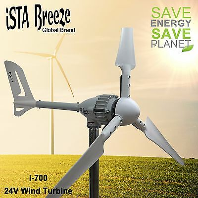 700W 24V i-700 Wind Generator, Ista-Breeze Wind Turbine, Wind Turbine White