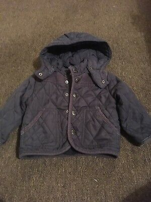 Quilted Baby Boys Coat From Zara Age 9-12 Months
