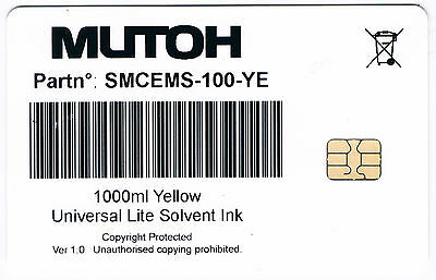 Mutoh Smart Card 8 pcs (2C/2M/2Y/2K 1000ml v.1.0) for Mutoh Valuejet Printers.