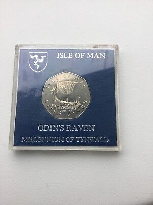 1979 Isle Of Man, Odins Raven 50p Coin