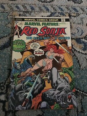 Marvel Feature 1 Red Sonja Appearance First Issue Comic Conan Sonya marvel