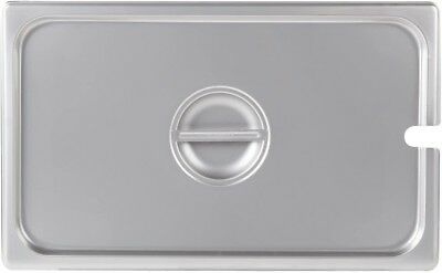 Full Size Stainless Steel Steam Table Hotel Slotted Pan Lid Cover (Pack of 6)