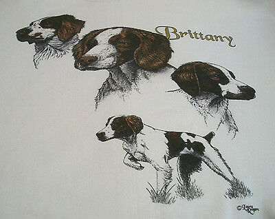 "Brittany Spaniel Sweatshirt  "" Natural  "" 2XL ( 50 ~ 52 )"