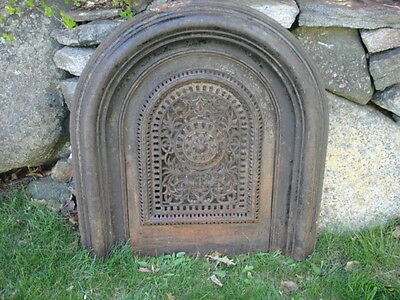 Vintage Cast Iron Fire Place Front Cover
