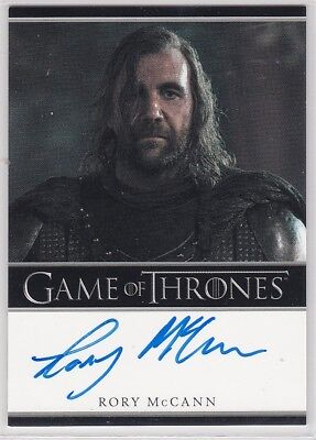 Game Of Thrones Season 1 Rory Mccann Sandor Clegane The Hound Autograph Bordered