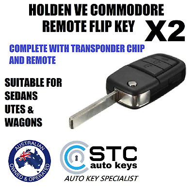 2 Holden Ve Commodore Hsv Omega Ssv Sv6 Remote Keys With Transponder 2006 - 2013