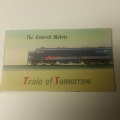 General Motors Train Of Tomorrow Fold-Out Pamphlet Lithographed 1947 Full Color