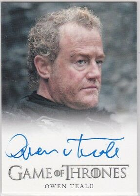 Game Of Thrones Season 1 Owen Teale As Alliser Thorne Autograph Full Bleed