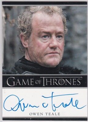 Game Of Thrones Season 1 Owen Teale As Alliser Thorne Autograph Bordered
