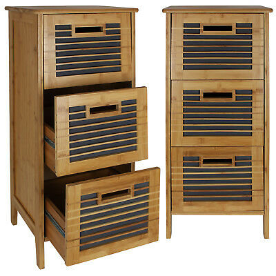 kesper regal 3 schubladen schubladenregal schrank badregal badezimmer bad bambus eur 49 90. Black Bedroom Furniture Sets. Home Design Ideas