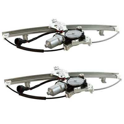 New Pair of Front Power Window Regulators with Motors fits 07-10 Nissan Versa