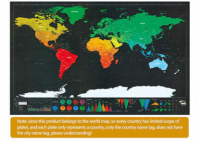 The World Edition Travel Map Scrape Creative Gift Black And Gold Scraped Map