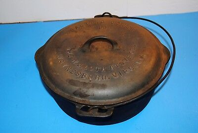 Antique W. J. Loth Cast Iron Dutch Oven Basting Cover Cast Iron VERY RARE