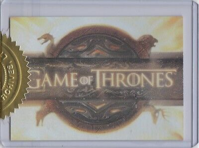 Game Of Thrones Season 1 T1 Title Logo Case Topper Incentive Insert 467/900