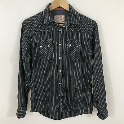 JEFFREY MAX Pearl Snap Western Long Sleeve Button Down Mens Small #4
