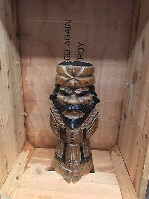 Ancient Like  Egyptian carved mask Statue Figure. Time Unknown Collection