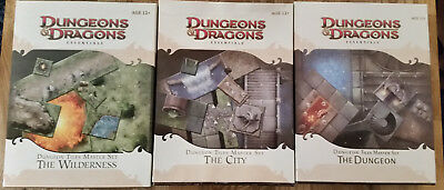 "Dungeons & Dragons - Dungeon Tiles Master Sets Dungeons, Wilderness, City ""Neu"""