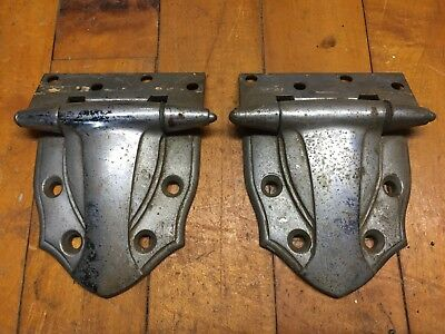 Vintage  2  Matching  Heavy Duty Chrome Hinges