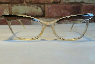 Vintage Retro 1950s 1960s Ladies Glasses Spectacles Mid Century Cats Eye