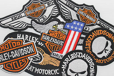 RAMDOM Lot of 10 Pcs Vintage Racing Motorcycle Biker Patches Iron on Sew Patch