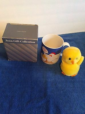 Rare Vintage Avon Chick In Amug Rise And Shine With Plush Chick New In Box
