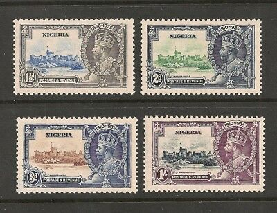 Nigeria stamp set Scott# 34-37 Mint NH KGV Silver Jubilee Great Britain