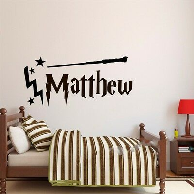 HARRY POTTER wall sticker Personalised any name girls boys wall art  DECAL DECOR