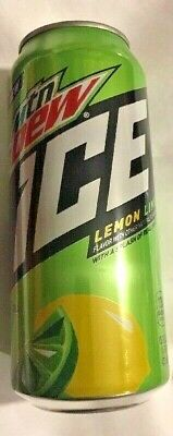 4-new Mtn Dew Ice ❄️🍋lemon Lime 16 Oz Cans Mountain 👀 Free Shipping USA