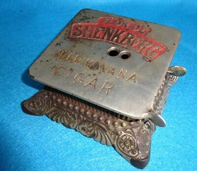 cast iron Erie Company antique advertising counter general cigar store cutter