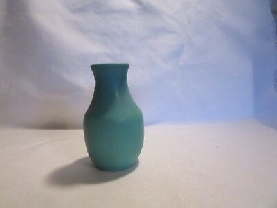 """Van Briggle Pottery Ming Turquoise Color Art Pottery Small Bud  Vase 4"""" Tall"""
