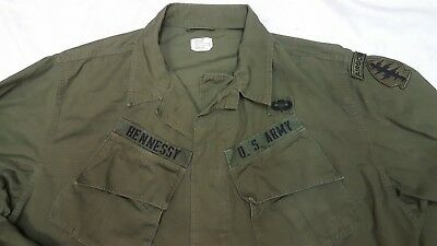 US ARMY Vietnam Tropical Combat Jacket, 2nd Pattern , LARGE LONG Special Forces