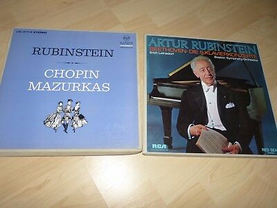 2 Boxes Piano Classical played by Rubinstein / Beethoven, Chopin RCA Red Seal