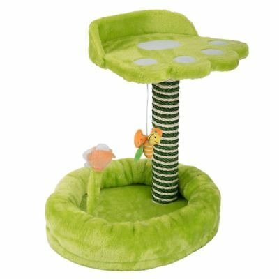 Cat Tree Pet Post Cats Double Sleeping Area Scratching Toy Tower Kitten Play NEW