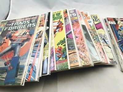 Vintage G1 Transformers Huge Comic Book 1 - 36 Lot (41 Comics Total) Marvel 1984