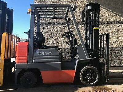 Toyota 5000 Pound LPG/Propane Forklift-WE WILL SHIP! NICE/BUDGET LOW HOUR LIFT!