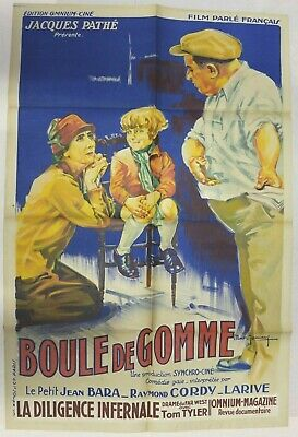 AFFICHE cinéma Pathé BOULE de GOMME 1931 GAUMONT post rural silent movie poster