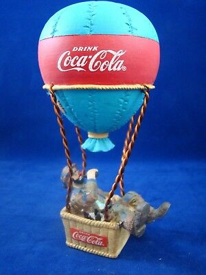 "Coca-Cola  ""LOOK UP AMERICA"" EMMITT KELLY HOT AIR BALLOON FIGURINE"