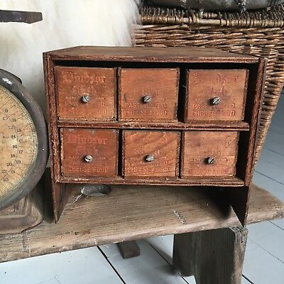 Vintage Cabinet Antique Crate Wooden Wood Cheese Boxes 2 lb Folk Art Primitive