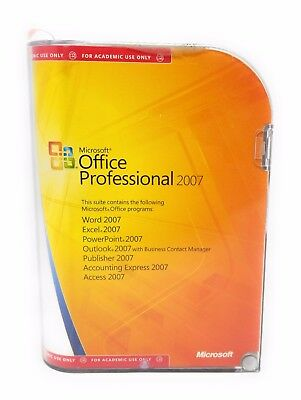 Microsoft Office Professional 2007 Full Version Word Excel Publisher Outlook Key