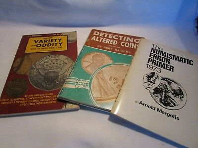 Four (4) Paper Backs Coin Books Error Primer,die Rotated,altered,oddity Coins
