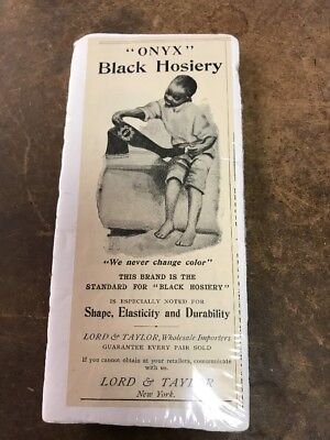 Lord & Taylor Wholesale Importers Black Hosiery Onyx Advertising Black Americana